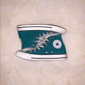 Converse teal high tops